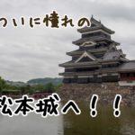 信州でここへ行かずにどこへ行く!?ついに憧れの松本城へ!圧倒的存在感に打ちのめされる。